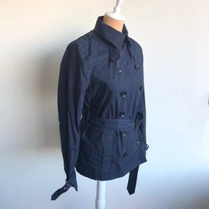 Burberry Brit Navy Short Trench Size 8